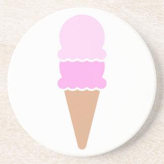 Double Scoop Ice Cream Cone - Pinks Coaster