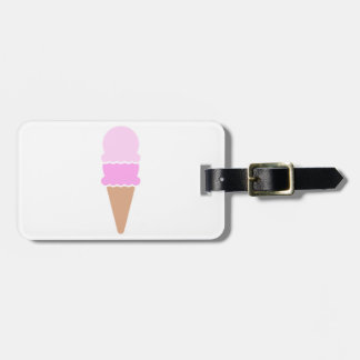 Double Scoop Ice Cream Cone - Pinks Luggage Tag