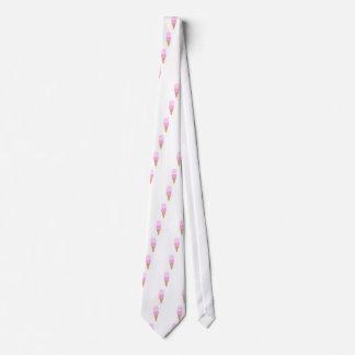 Double Scoop Ice Cream Cone - Pinks Tie