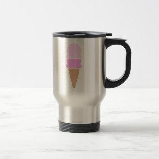 Double Scoop Ice Cream Cone - Pinks Travel Mug