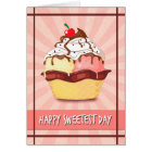 Double Scoop Ice Cream w/ Cherry  for Sweetest Day Card