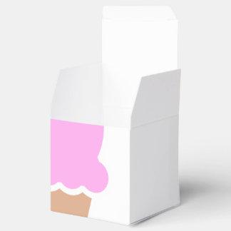 Double Scoop Pink Ice Cream Cone Favor Box