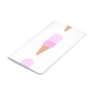 Double Scoop Pink Ice Cream Cone Journal
