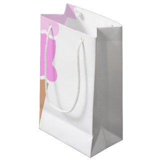Double Scoop Pink Ice Cream Cone Small Gift Bag
