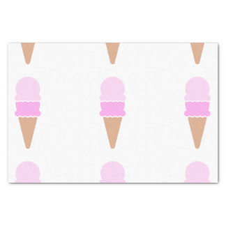 Double Scoop Pink Ice Cream Cone Tissue Paper