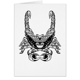 Double Scorpion Design & Peace Sign Card