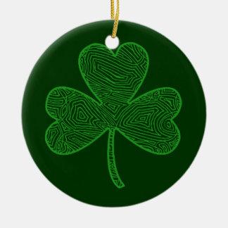 Double Shamrock Ornament