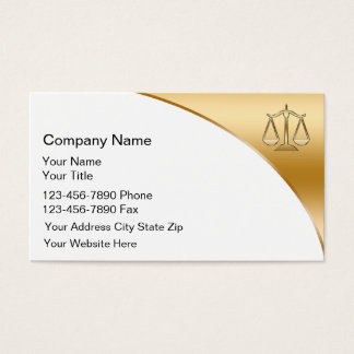 Double Side Attorney Business Cards