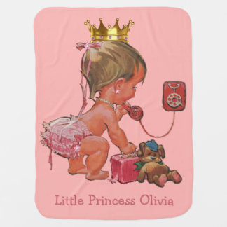 Double Side Print Baby Princess Phone Personalized Baby Blanket