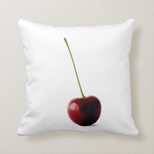 Double Sided Apple or Cherry Throw Pillow