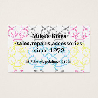 Double sided bicycle business card