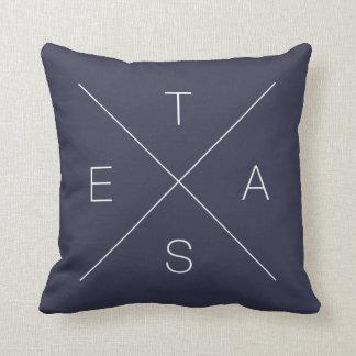 Double Sided Criss Cross X TEXAS Pillow
