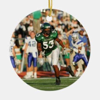 Double- Sided Football Christmas Ornament