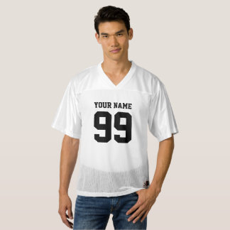 Double sided football jersey with custom number
