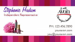 double sided gender neutral avon business cards - Avon Business Cards