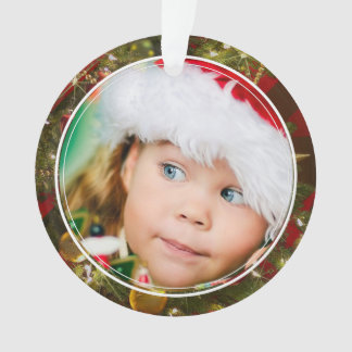 Double Sided Image & Message Christmas Ornament
