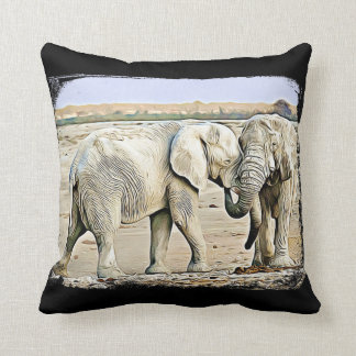 Double Sided Jungle African Animals Pillow