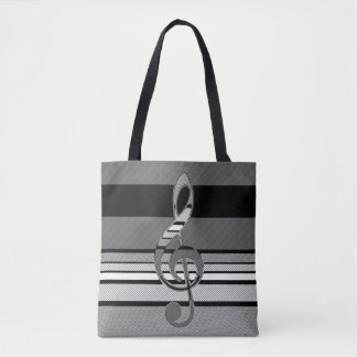 Double Sided Music Abstract Geometric Art Tote Bag