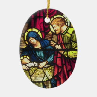 Double-sided Nativity Christmas Ornament