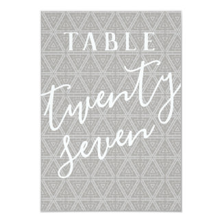 Double Sided Patterned Table Number 27