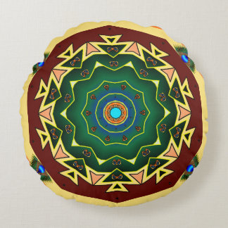 Double Sided Peacock Kaleidoscope Pillow