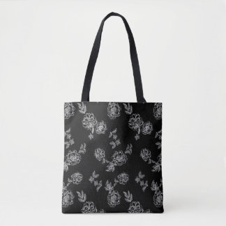 Double Sided Peonies Flowers Tote Bag