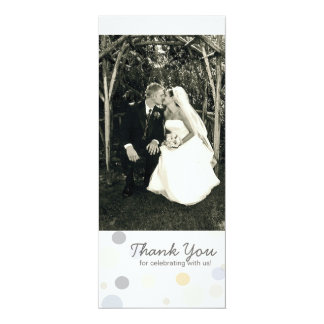 """Double-Sided Photo Card: Champagne Bubbles 4"""" X 9.25"""" Invitation Card"""