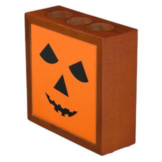 Double Sided Pumpkin Face Halloween Jack 0 Lantern Pencil/Pen Holder