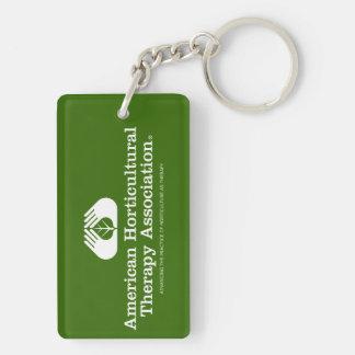 Double-sided rectangular AHTA keychain