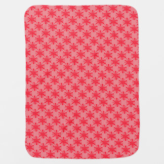 Double sided red dotted stars on pink and white swaddle blankets