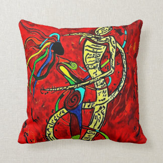 Double Sided Rumi and Tahireh Throw Pillow
