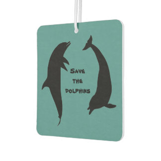 Double Sided Save the Dolphins Air Freshener