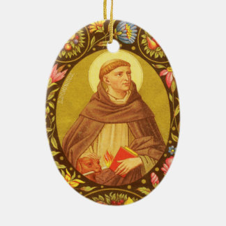 Double-Sided St. Dominic de Guzman (PM 02) Ceramic Oval Ornament