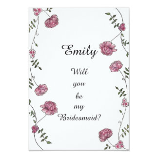 Double sided Will you be my bridesmaid card