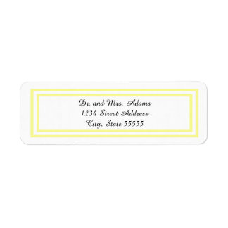 Double Soft Yellow Trim - Address Label