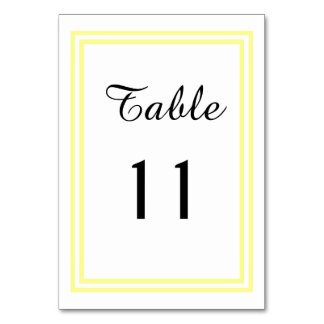 Double Soft Yellow Trim - Table Card