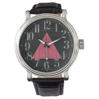 Double Stamped Pink Triangle Watch