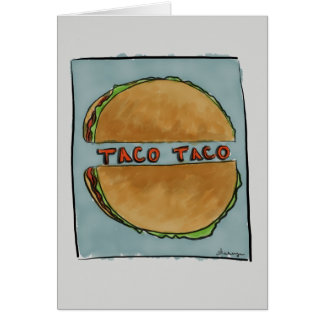 Double Taco Greeting Card