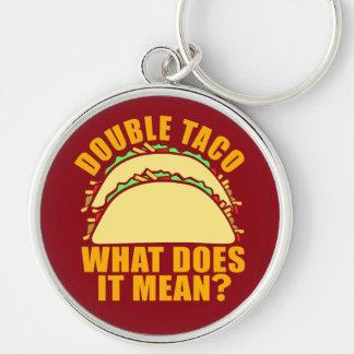 Double Taco Keychain