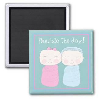 Double the Joy! Twin Baby Magnet