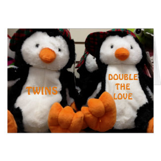 DOUBLE THE LOVE WHEN HAVING ***TWINS*** CARD