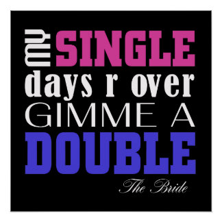 Double Time Bride (for darks) Perfect Poster