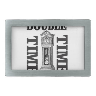 double time two rectangular belt buckles