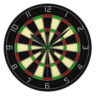"""Double Top"" Classic Darts Dartboard Clock"
