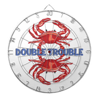 Double Trouble Dartboard With Darts