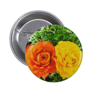 Double Trouble Flower 2 Inch Round Button