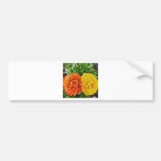 Double Trouble Flower Bumper Sticker
