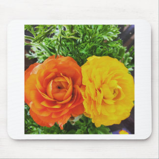 Double Trouble Flower Mouse Pad