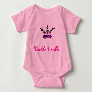 Double Trouble-Girl twins Baby Bodysuit