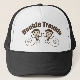 Double Trouble Monkey Trucker Hat